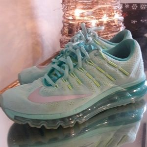Nike Air max 2016, turquoise and fluorescent green